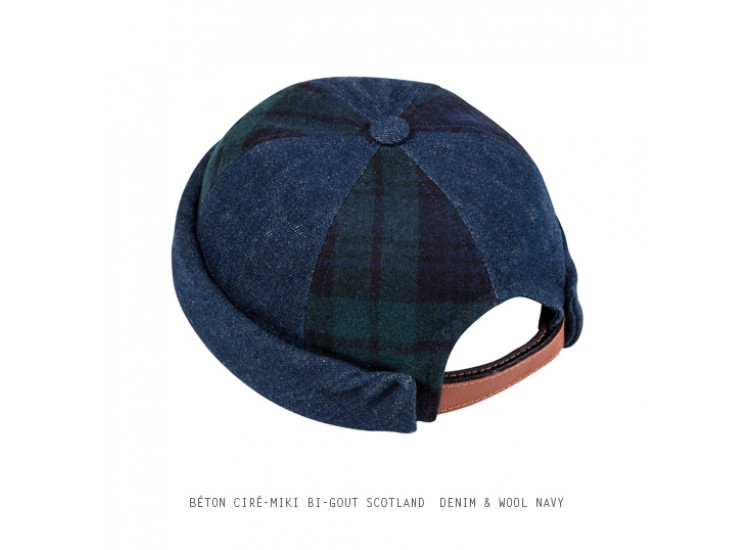 BÉTON CIRÉ - MIKI BI-GOUT - SCOTLAND DENIM & WOOL NAVY