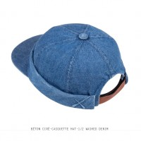 BETON CIRE - CASQUETTE HAT - 1/2 WASHED DENIM