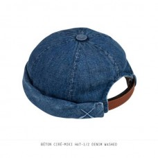 BÉTON CIRÉ - MIKI HAT - 1/2 WASHED DENIM