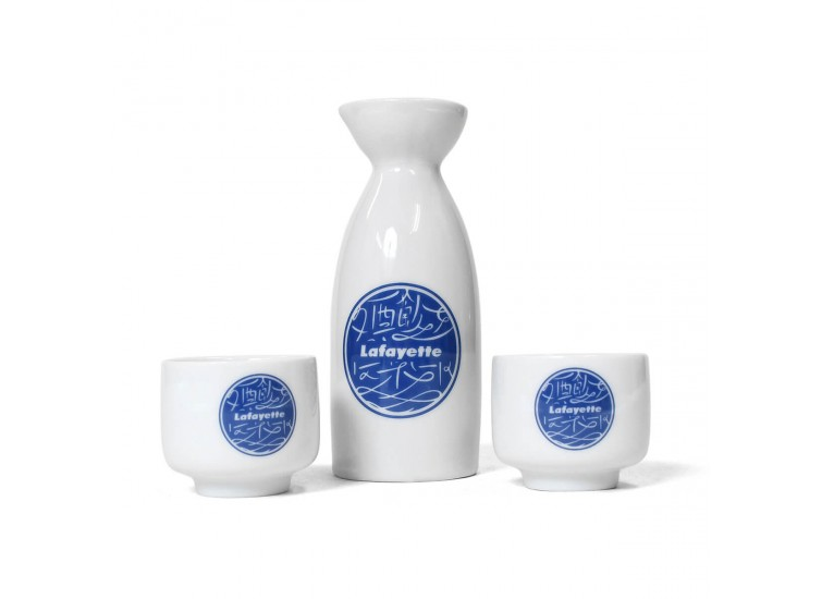 Lafayette x Club SakeNomitai 酒飲俱樂部 - 酒飲倶楽部 SAKE NOMI CLUB LOGO SAKE Bottole & Cup Set LE202301