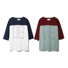 LESS - DROP SHOULDER FOOTBALL TEE