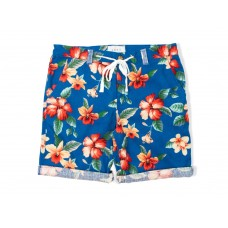 LESS - FLOWER PATTERN SHORT (ROYAL)