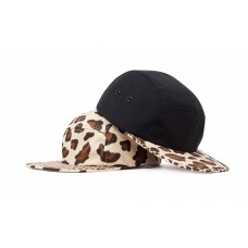 LESS - SLIDE LOGO CAMP CAP (Leopard, Black/Leopard)