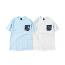 LESS - GEOMETRIC PATTERN POCKET TEE