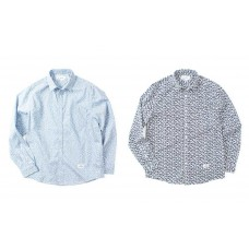 LESS - L/S FLORAL PATTERN SHIRT