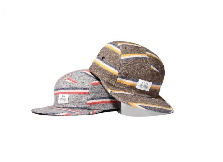LESS - SIMPLE LOGO CAMP CAP (Stripe Wool)