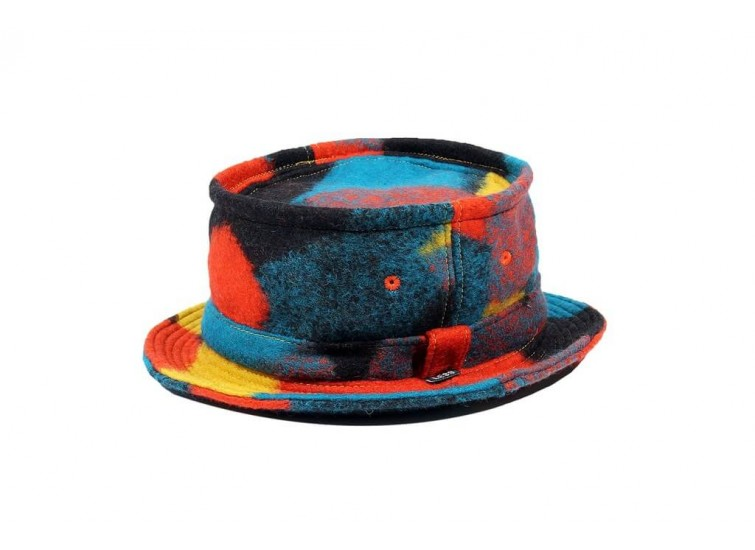 LESS - TIE DYE WOOL PORK PIE HAT