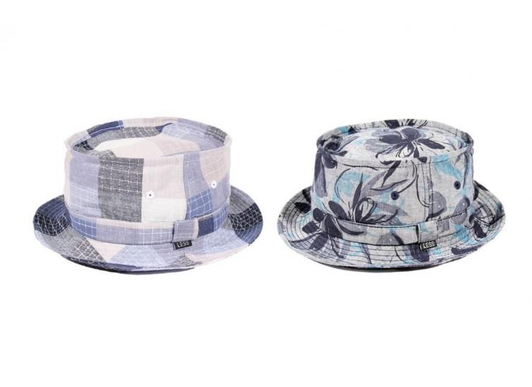 LESS - PATCHWORK/FLOWER PORK PIE HAT