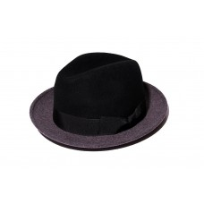LESS - TWO TONE FELT BOWLER HAT
