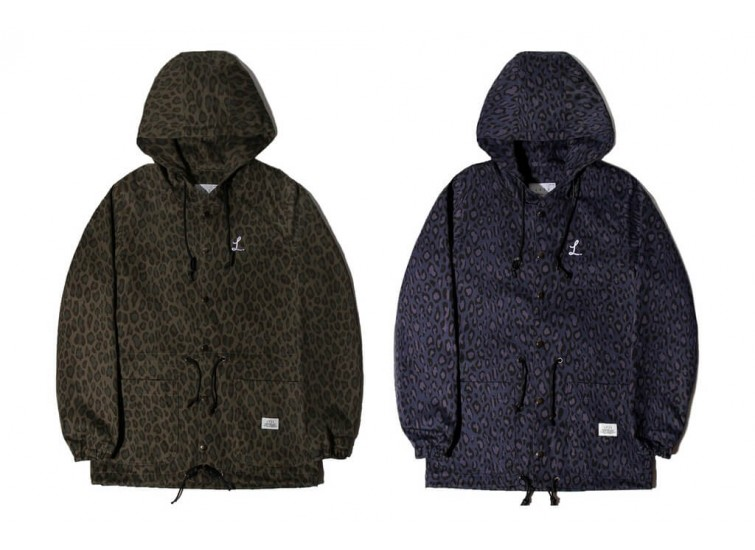 LESS - LEOPARD PATTERN HOODED PARKA