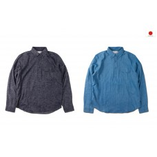LESS - L/S BUTTON DOWN PULLOVER SHIRT