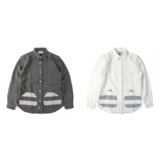 LESS - L/S MEDIUM SPREAD COLLAR POCKET SHIRT