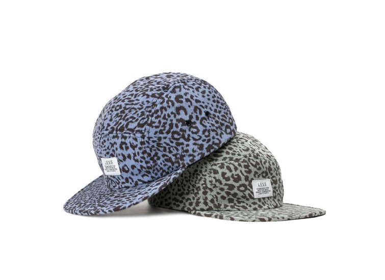 LESS - SIMPLE LOGO CAMP CAP (Leopard Pattern)