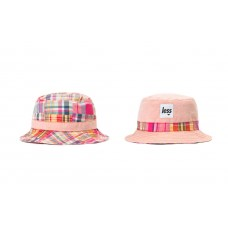LESS - PATCH WORK BUCKET HAT (Pink/Orange)