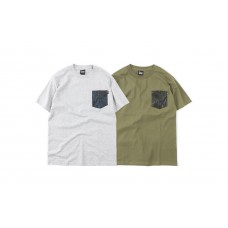 LESS - WOOD CAMOUFLAGE POCKET TEE