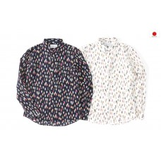 LESS - L/S ALL OVER BEVERAGE CAN PATTERN SHIRT