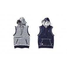 LESS - SCRIPT L LOGO HOODED VEST