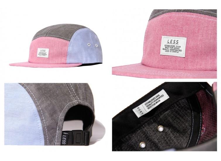 LESS - SIMPLE LOGO CAMP CAP (RED/BLACK/BLUE)