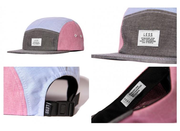 LESS - SIMPLE LOGO CAMP CAP (BLACK/BLUE/RED)