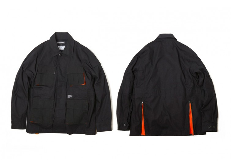 LESS X DOMINATE - TWO TONE TROOPER JACKET - Black
