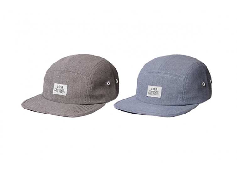 LESS - SIMPLE LOGO CAMP CAP (Gray, Blue)