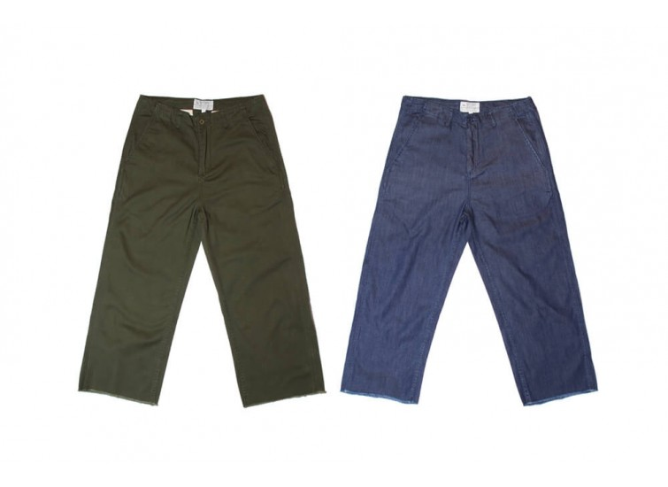 LESS - CUT OFF BAGGY PANT
