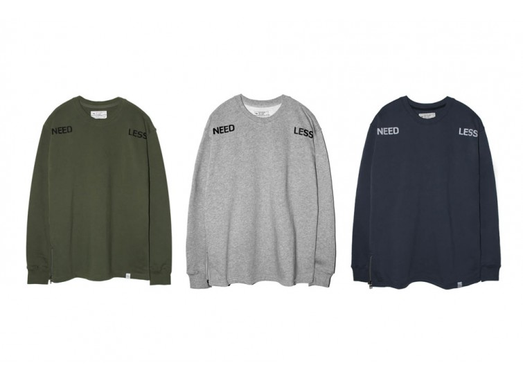 LESS - NEED LESS ZIP SWEATSHIRT