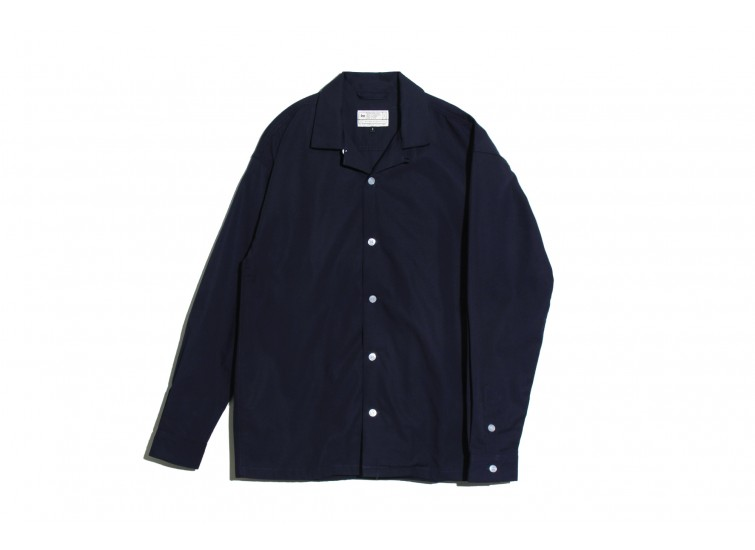 LESS - L/S OPEN COLLAR SHIRT