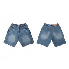 LESS - 5 POCKET WASHED DENIM SHORT - BAGGY