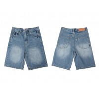 LESS - 5 POCKET WASHED DENIM SHORT - STANDARD