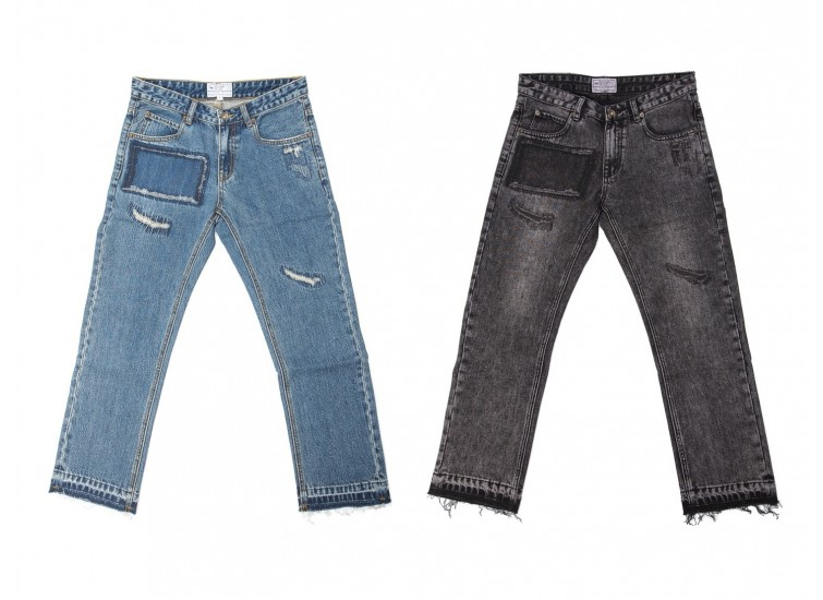 LESS - REPAIR DENIM JEANS