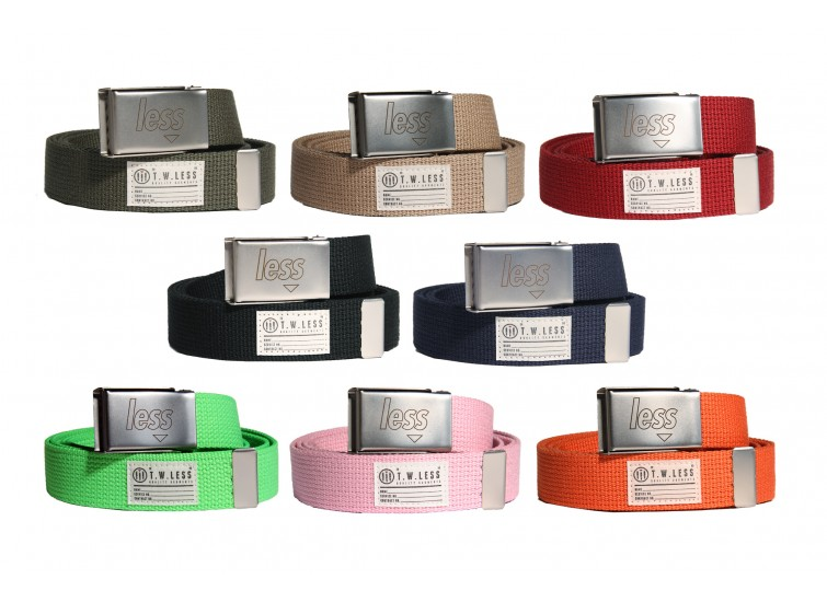 LESS - SQUARE LOGO CLIP BELT