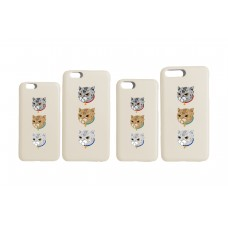 LESS - 3 CATS IPHONE CASE (CREAM)