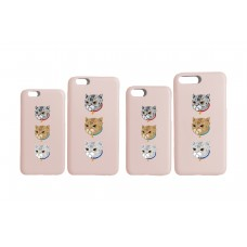 LESS - 3 CATS IPHONE CASE (PINK)