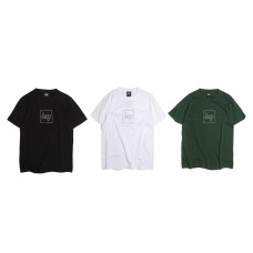 LESS - Dotted Line Square Logo Tee