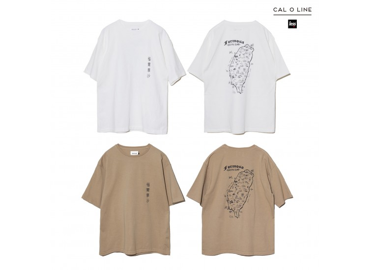 LESS x CAL O LINE - TAIWAN MAP TEE