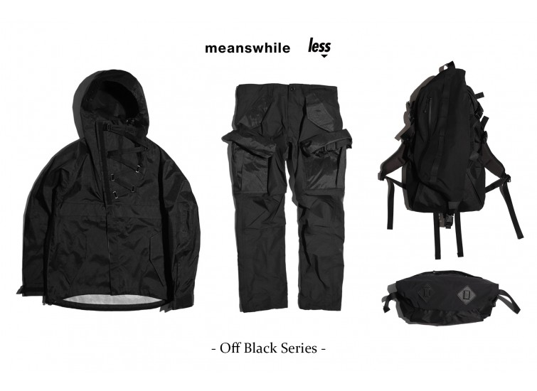 meanswhile x Less - Off Black Series