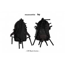 "meanswhile x Less - Off Black Series - ""Outside"" BACKPACK"