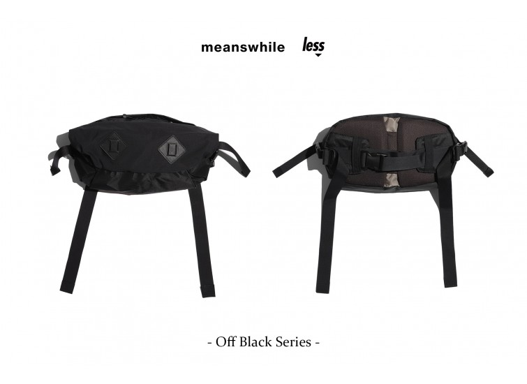 "meanswhile x Less - Off Black Series - ""Retrofitted""  WAISTBAG"