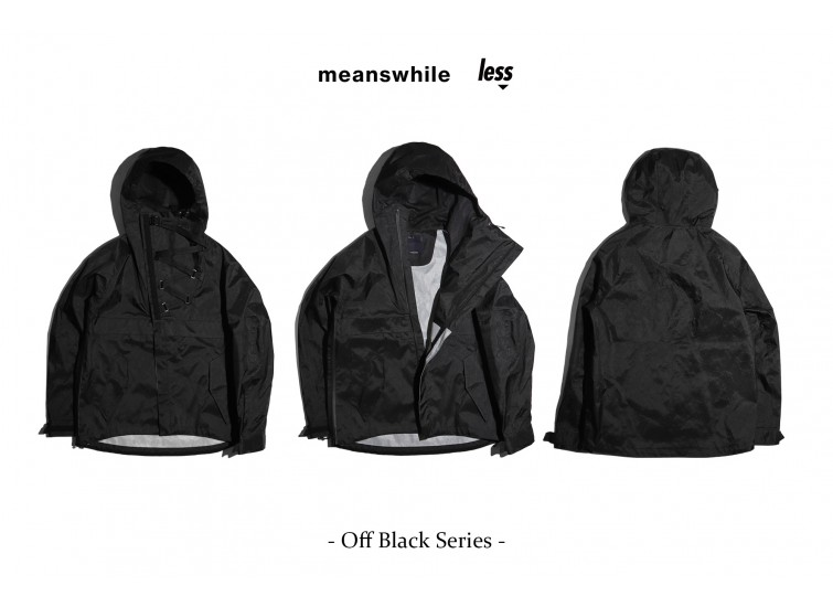 meanswhile x Less - Off Black Series - LS ANORAK