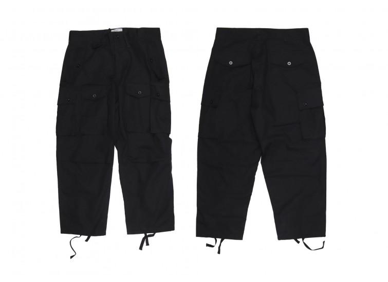 LESS - Multi Pocket Ripstop Pants - Black