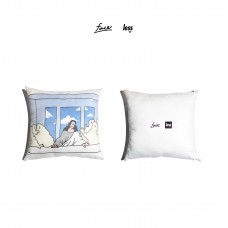 LESS x face - l'ultima cena Pillow 抱枕