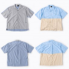 SOP X LESS - 2 TONE CRAZY STRIPE WIDE SHIRT