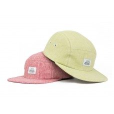 LESS - Simple Logo Camp Cap (Chambray - Red, Wasabi)