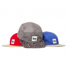 LESS - SQUARE LOGO CAMP CAP (Red/Khaki, Grey/Leopard, Royal/Khaki)