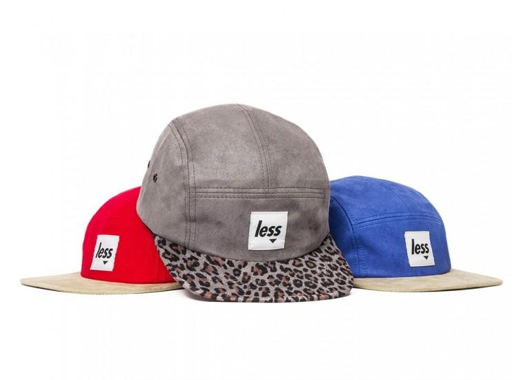 LESS - SQUARE LOGO CAMP CAP (Red/Khaki, Grey/Leopard, Royal/Khaki)