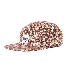 LESS - SQUARE LOGO CAMP CAP (Coffee Beans Pattern - Brown)