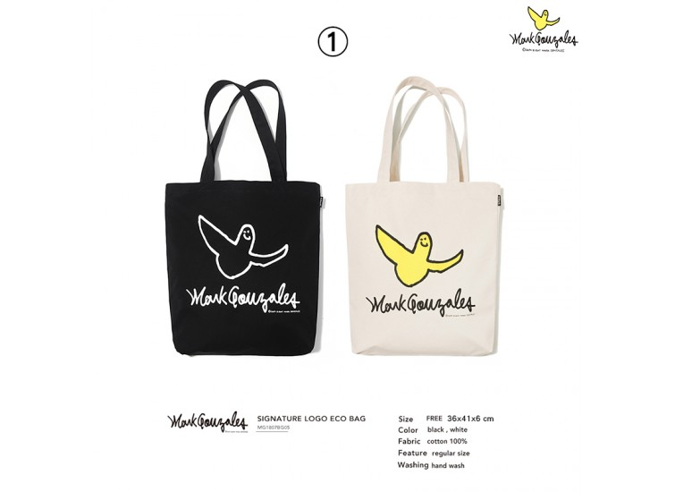Mark Gonzales BAG1 ANGEL LOGO ECO BAG TOTE BAG 托特包 MG1807BG05