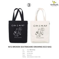 Mark Gonzales BAG3 BROKEN SKATEBOARD DRAWING ECO BAG TOTE BAG 托特包 MG1902BG04
