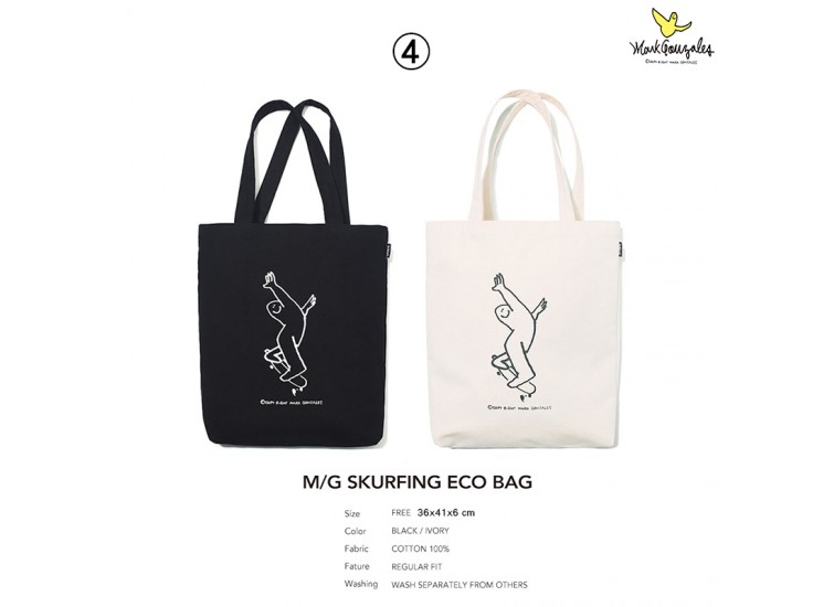 Mark Gonzales BAG4 SKURFING ECO BAG TOTE BAG 托特包 MG1902BG05